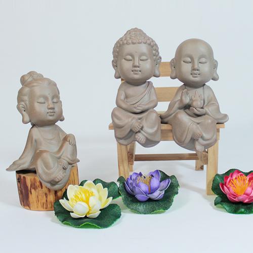 도자기 삼존불 (세트) - 불교용품/불교장식품/불교캐릭터
