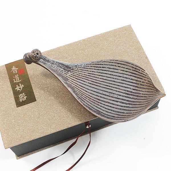 철화 연잎 향꽂이 - 선향/인센스/명상용품/수행용품/불교용품
